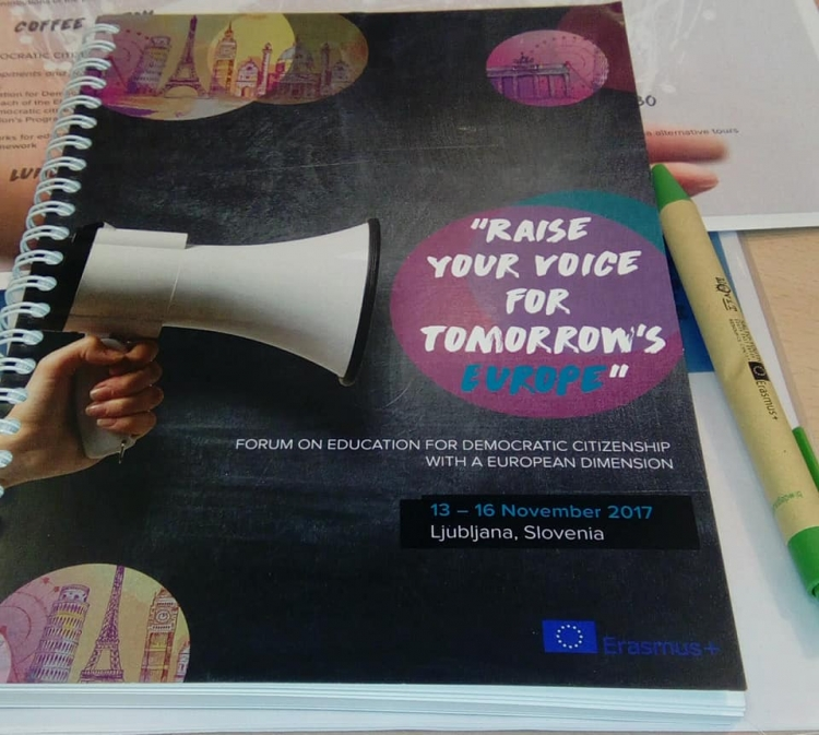 """Raise your voice for tomorrow's Europe"" - Forum on education for democratic citizenship with a European dimension"